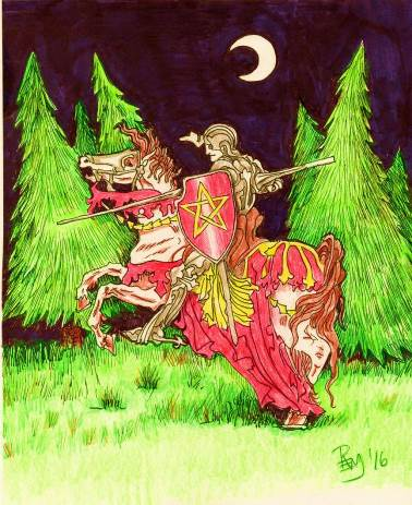 "Sir Gawain as described in :Sir Gawain and the Green Knight"" (from Chapter 18 of the Cabal Fang Study Course)"
