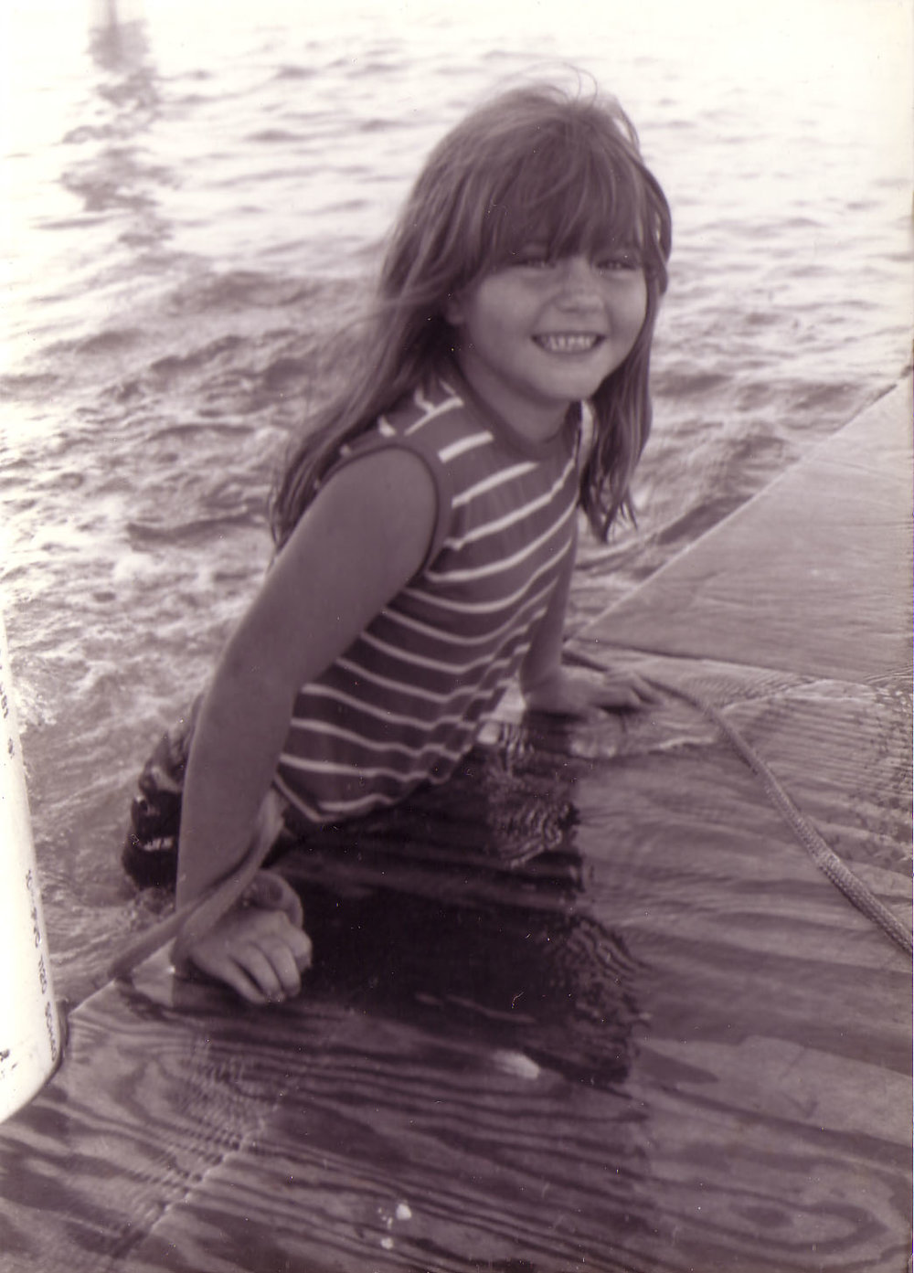 The author at her family's stilt house, circa 1980.