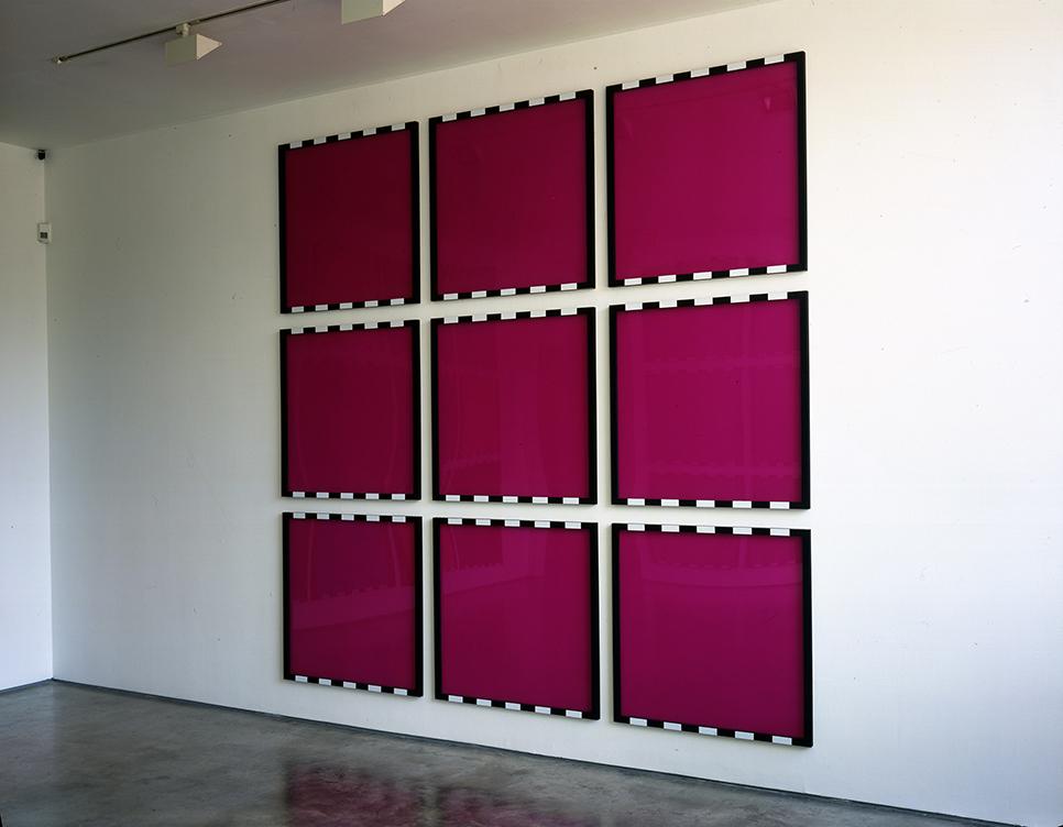 Burren,D. Framed Colours, 9 Magenta Elements, 2007