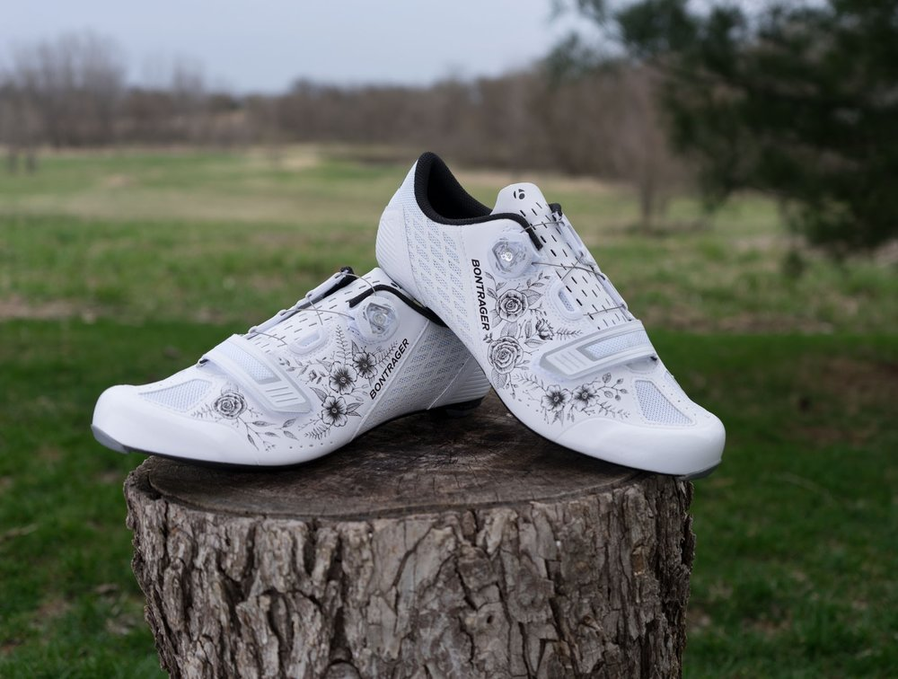 bontragerfloralcyclingshoes