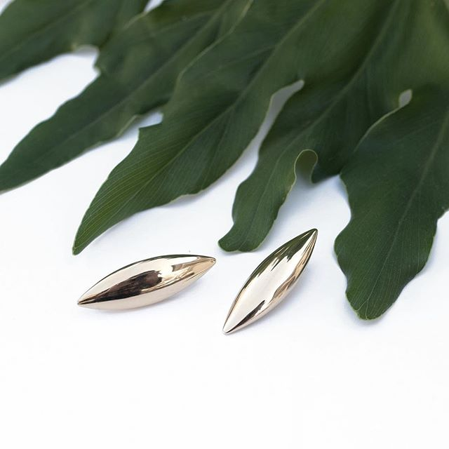 high on your own supply. sage oversized post earrings in gold