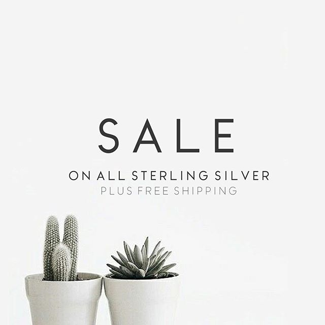 let's get the weekend started early 🤜🏻 sale on ALL sterling silver designs. many are one of a kind, so make sure and get them while they last! sale link in bio.