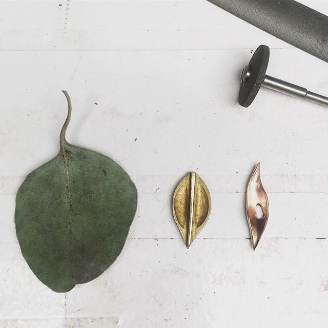 saturday leaf studies. new stud earrings