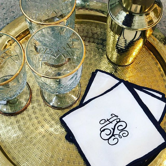 Gifts for all! Look how beautiful these monogram cocktail napkins turned out 🤩🤩 so many great happys at the Shoppe! #shoplocal #christmasishere
