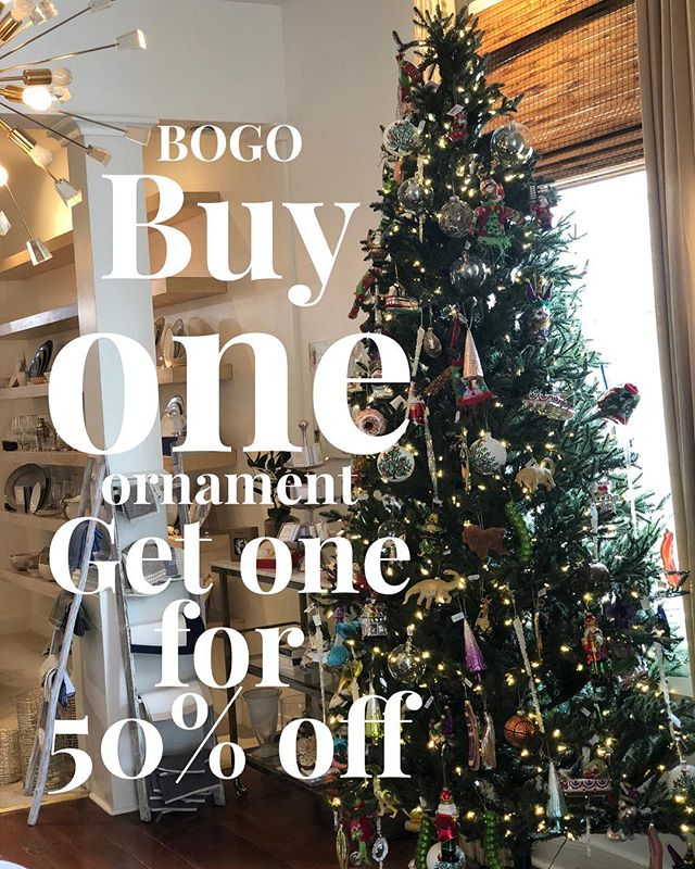 HAPPY MONDAY! Let's start with a deal... BOGO!!! Buy one ornament and get the second ornament 50% off! #shoptillyoudrop #christmastime #shoplocal #ornamentexchange #hilltopfavorite