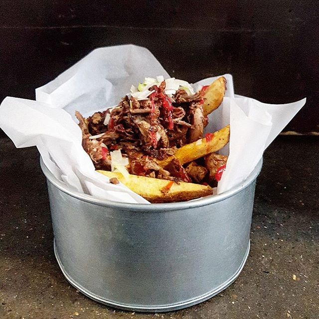 Shredded Duck w/ lager soaked chips & soured plum ketchup  We're serving this up in #EastLondon for our week long #PopUp with @RedchurchBrewer from 5th - 11th February. Link in bio.  #EEEEEATS #truecooks #yougottaeatthis #eatfamous #foodstagram #eats #igfood #goodeats #foodie #yum #lotiloves #buzzfeedfood #feedfeed #huffposttaste #foodbloggers #yummie #tastespotting #foodgawker #foodies  ##foodisfuel #foodcoma #foodgram  #foodism #cookingwithbeer #londonbeer #brewery #london #londonfoodie