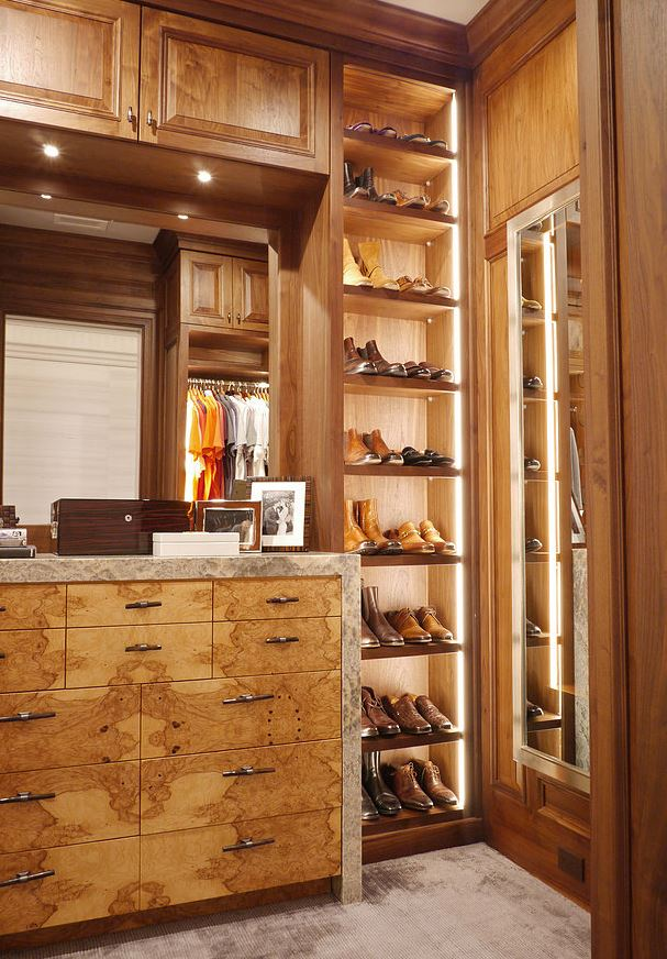 Modern Residential Walk in Closet