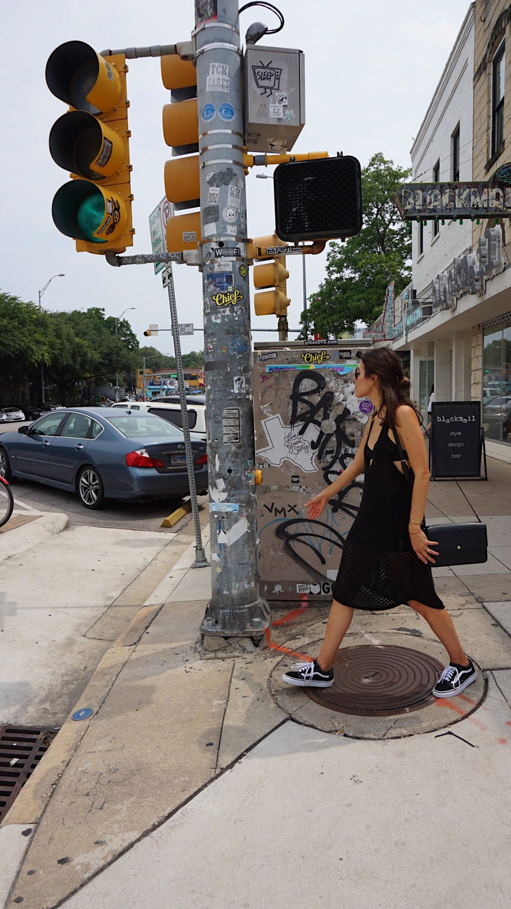 Walking - I love that you can ride your bike or walk to different spots in most areas here in Austin. So you can walk to the pizzeria, stuff your face and walk back home and not feel as bad...lol. Walk those calories off!