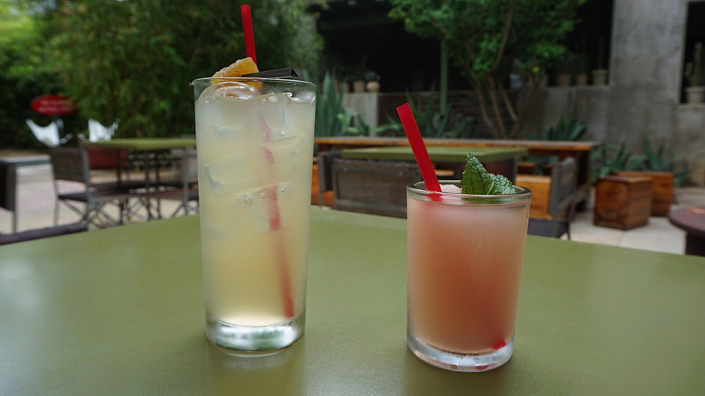 Giray ordered a Tokyo Mule - it's like a Moscow Mule but made with Sake and here's the frose' I was talking about earlier. Mmm, haha.