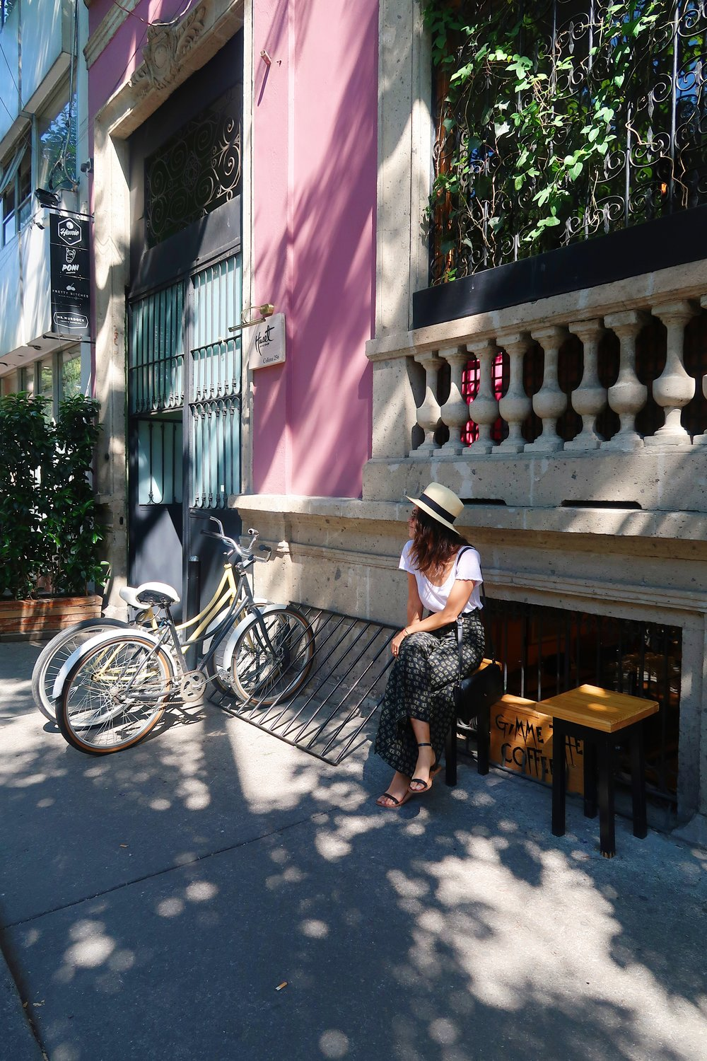 The streets in MX City are flooded with hidden little bars, cafes, restaurants...it's awesome.