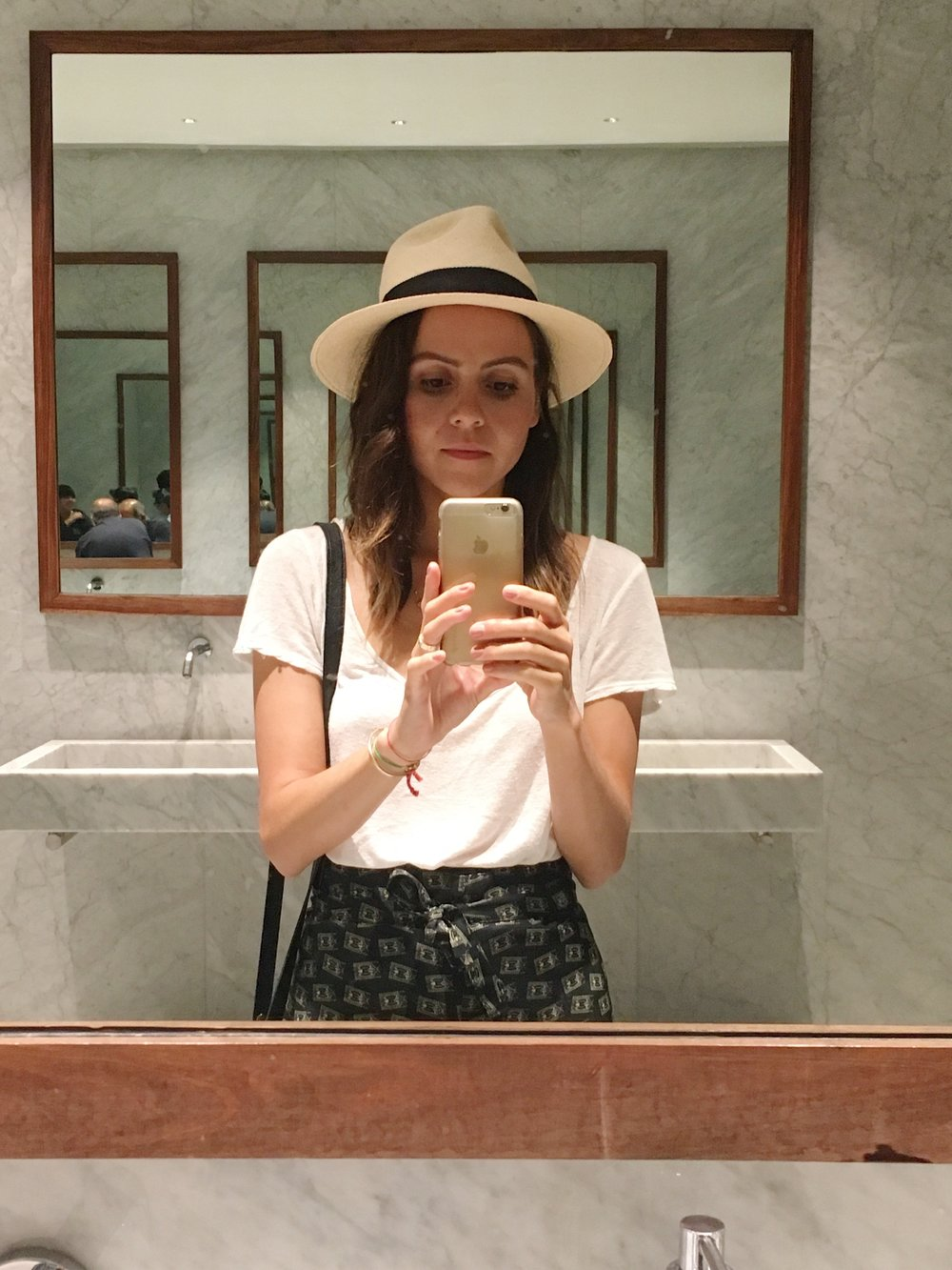 Bathroom selfie because the mirrors were huge and pretty.