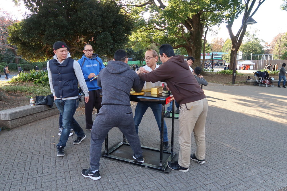 Arm Wrestling In The Park