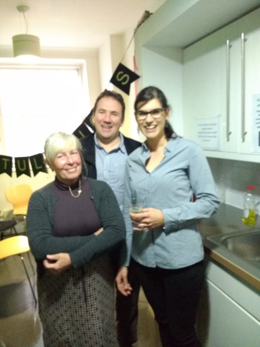 Blurry and from left to right: Dr Carolyn Bruce, Dr Paul Conroy, Dr Claudia Bruns