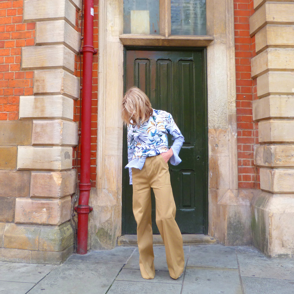 styling next trousers and resort shirt