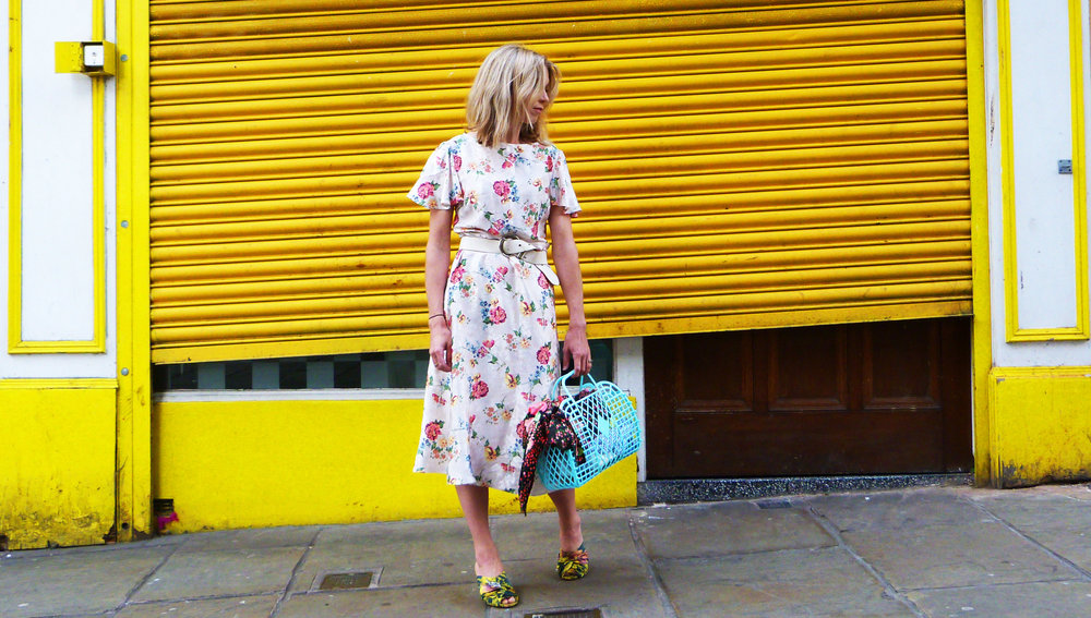 next floral dress and mules styling in Nottingham