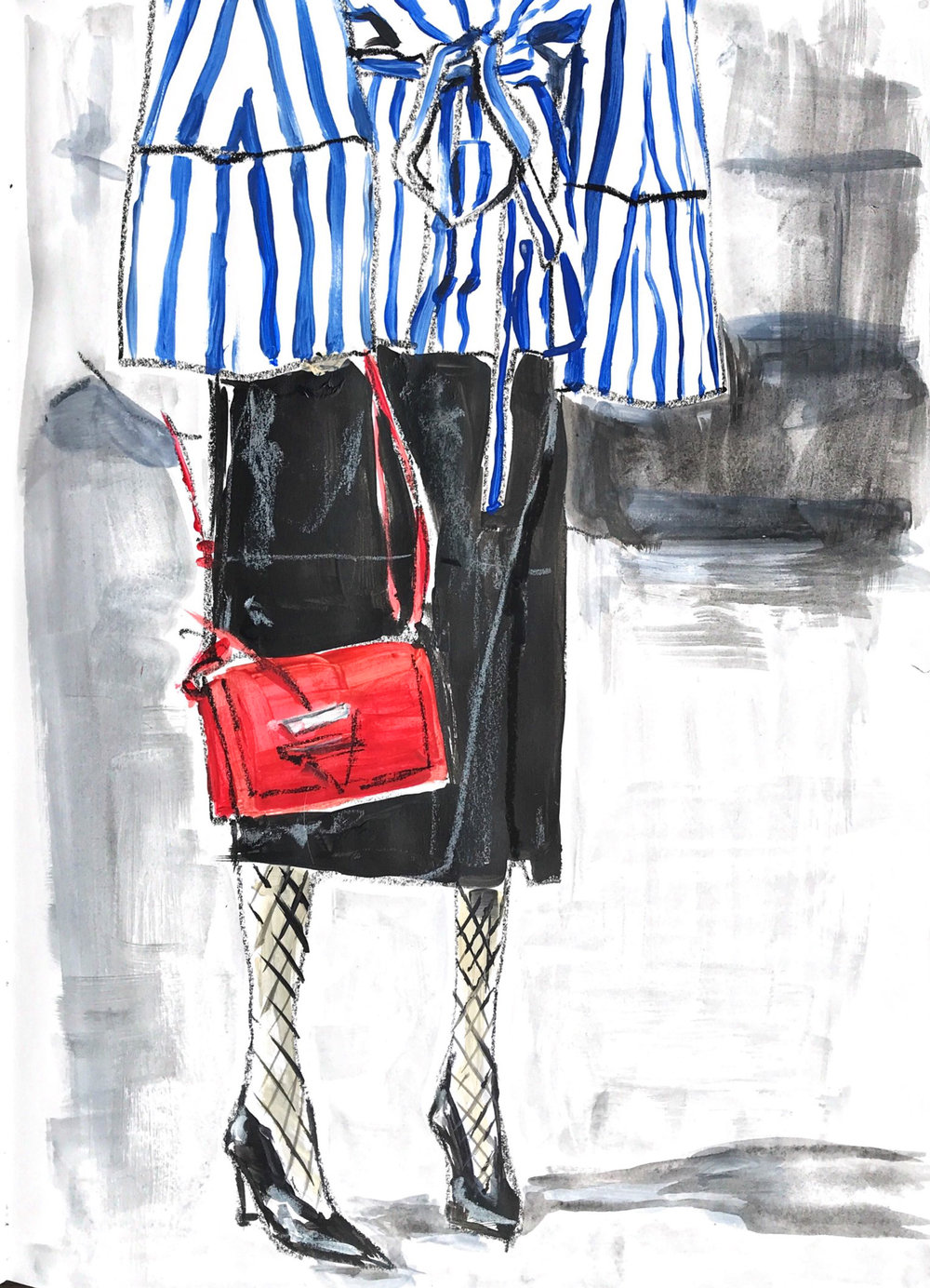 robe top stripe styling selfish wardrobe