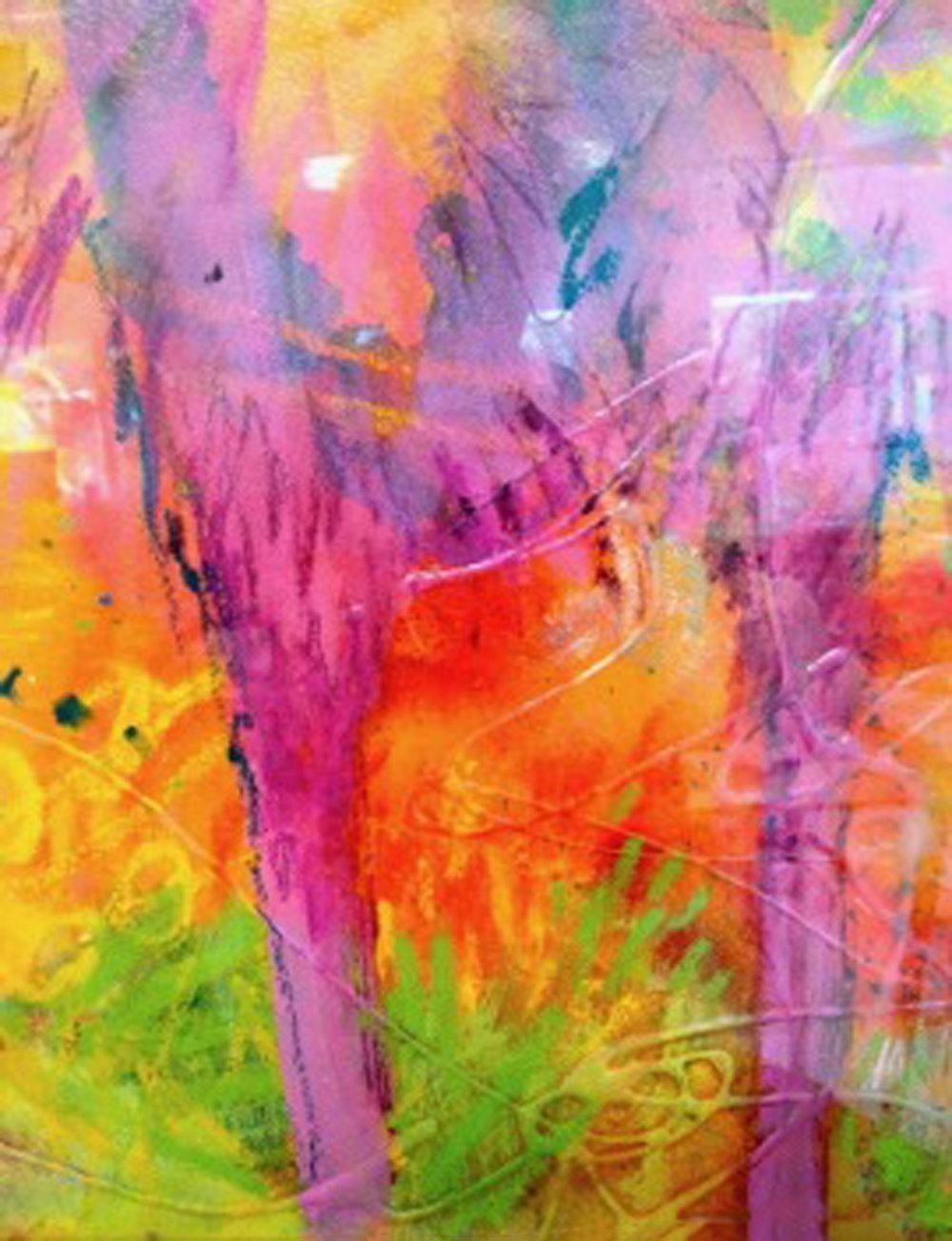 Joyful Palms - acrylic