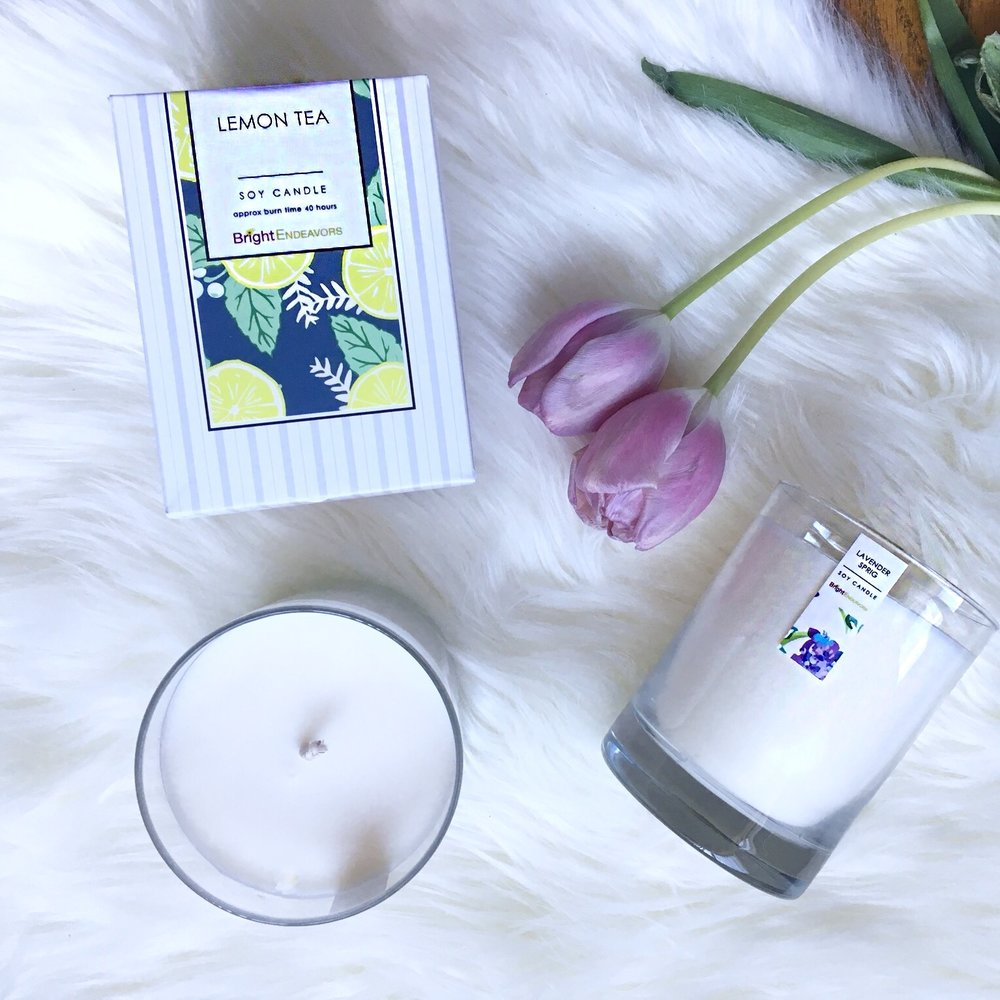 Bright Endeavors Candles - I am seriously obsessed with these candles, they smell great but they have an even better mission! They support young moms which really touches my heart (my sister is a young mom) and they try to get them on the right track!