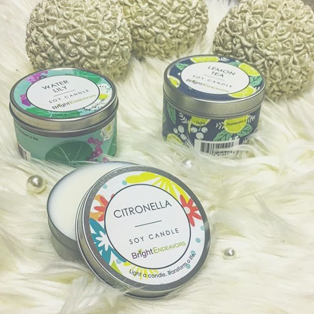 August = all the mosquitos 🐜 (close enough) @bright_endeavors citronella candles are the best, they're small enough to bring anywhere but they're powerful enough to keep the skeets away! #lightacandletransformalife