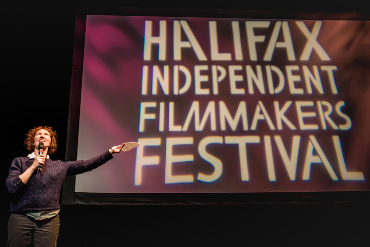 Programming Committee member Dawn George at the 2017 Halifax Independent Filmmakers Festival Photo: Topher & Rae Studios