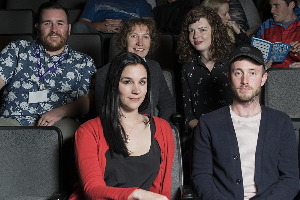 The HIFF 2018 Programming Committee, Zack Miller, Dawn George, Heather Young, Tori Fleming and Daniel Boos. Photo by Monika Gajewski.