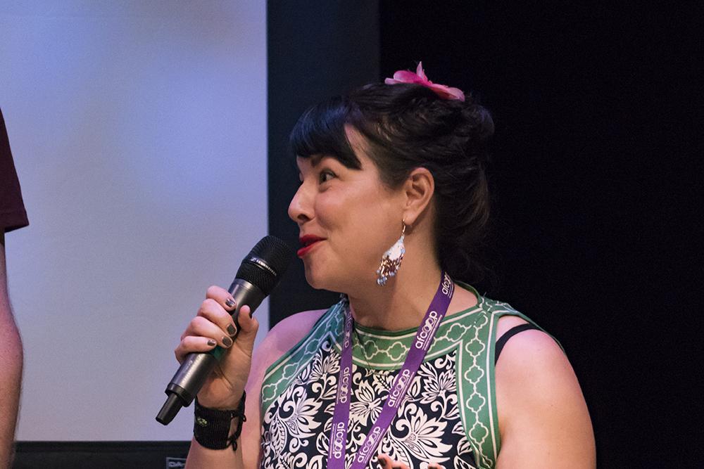 Filmmaker Tara Audibert at the Atlantic Auteurs Two screening. Photo by Monika Gajewski.