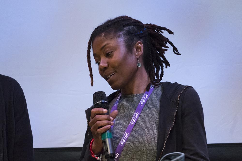 Filmmaker Erica Meus-Saunders at the Atlantic Auteurs Two screening. Photo by Monika Gajewski.