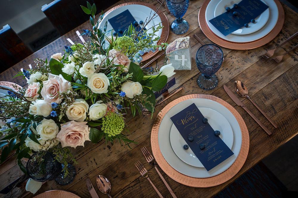 Blue & Copper Wedding Calgary