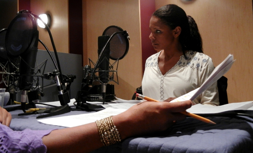 Audra McDonald recording Poof! by Lynn Nottage