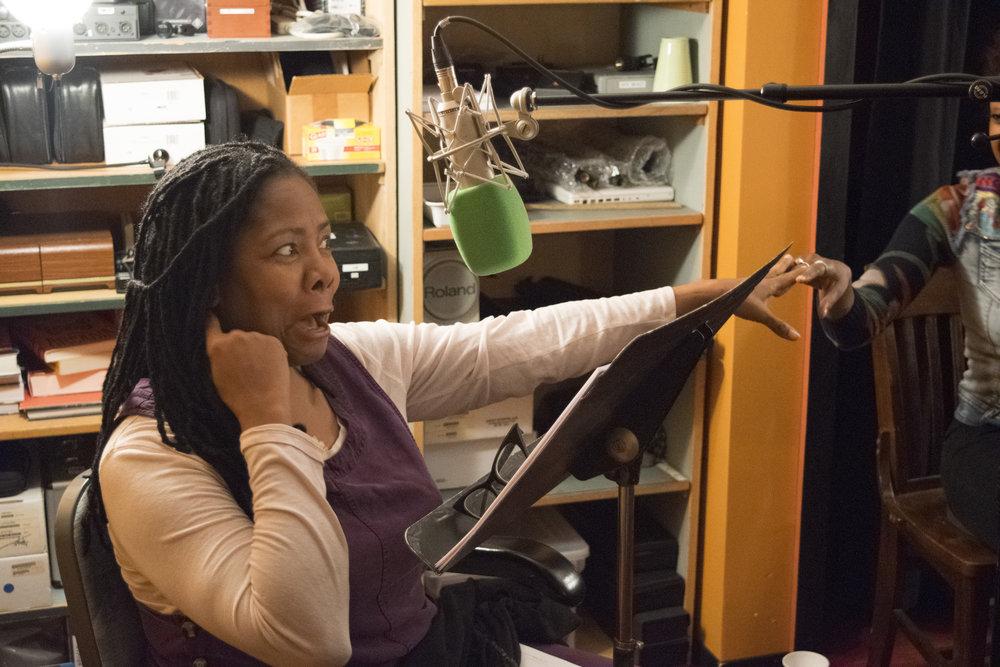 Tonya Pinkins recording Cell, by Cassandra Medley