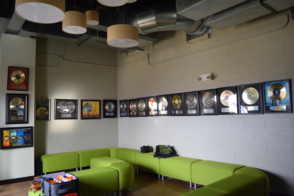 - One of our meetings took place in a room decorated with Award-winning Christian records!