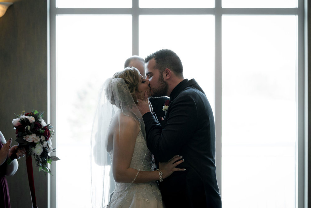 you may now kiss the bride at Sand Creek Country Club in Chesterton Indiana.
