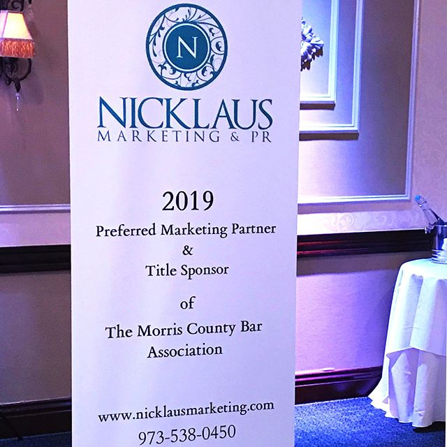 We are so proud to be the new Title Sponsor and Preferred Marketing Partner of The Morris County Bar Association! ✨ ⠀⠀⠀⠀⠀⠀⠀⠀⠀ #NicklausMarketing #design #creativity #graphicdesign #womanowned #Morristown #NewJersey #grow #socialmedia #marketing #seo #sem #agency #branding #onbrand #learn #motivation #inspired #achieve #successful #custom #PR #publicrelations #photography #photographer #morriscounty #attorney #law#barassociation #MCBA
