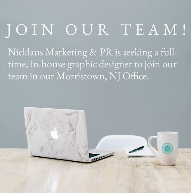 ❕ WE ARE HIRING ❕ Nicklaus Marketing & PR is looking for a motivated junior graphic designer who can serve as the creative engine behind our products and services. Our junior graphic designer will be responsible for developing print, digital, and video motion graphics for a wide variety of clients in varying industries 🏆 ⠀⠀⠀⠀⠀⠀⠀⠀⠀ Interested? Apply on ZipRecruiter, or email your resume and cover letter to info@nicklausmarketing.com ✨ ⠀⠀⠀⠀⠀⠀⠀⠀⠀ #NMPR #NicklausMarketing #design #creativity #graphicdesign #hiring #joboffer #Morristown #NewJersey #grow #socialmedia #marketing #seo #sem #agency #branding #onbrand #learn #motivation #inspired #achieve #successful #custom #PR #publicrelations #photography #photographer #videography