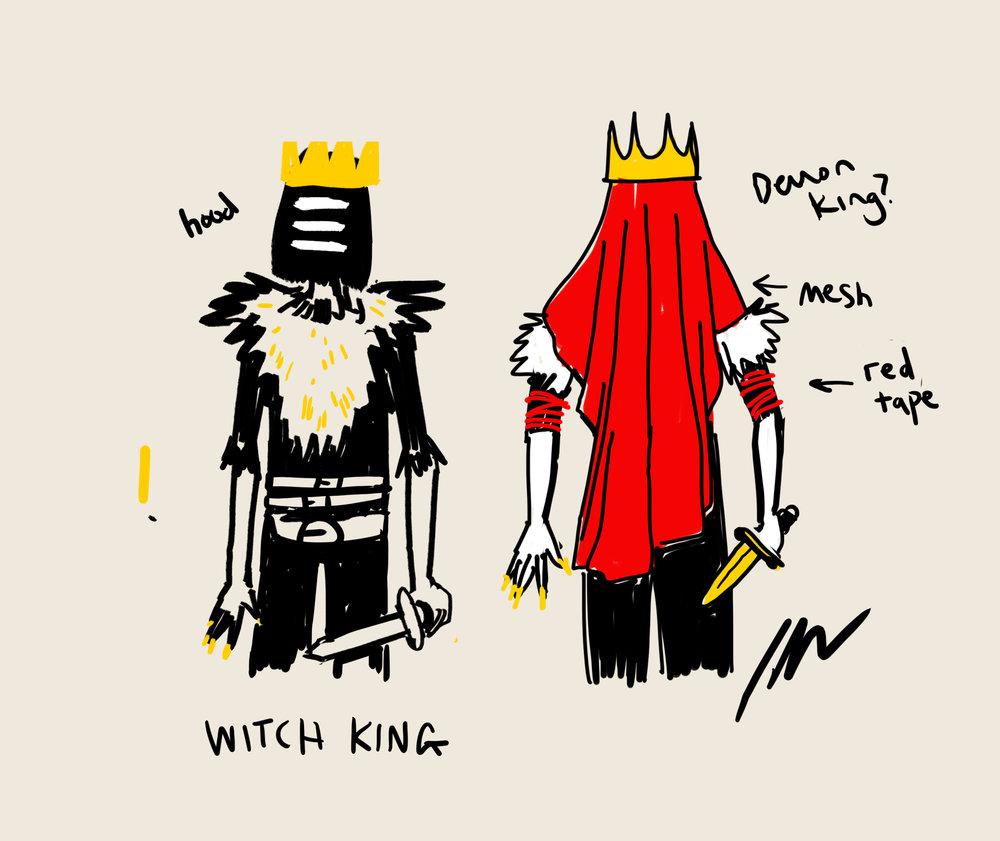 Costume concept sketches