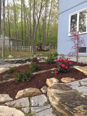 • Mulching  • Topsoil/Reseeding  • Landscape Installation  • Bed Cutting  • Fence Installation