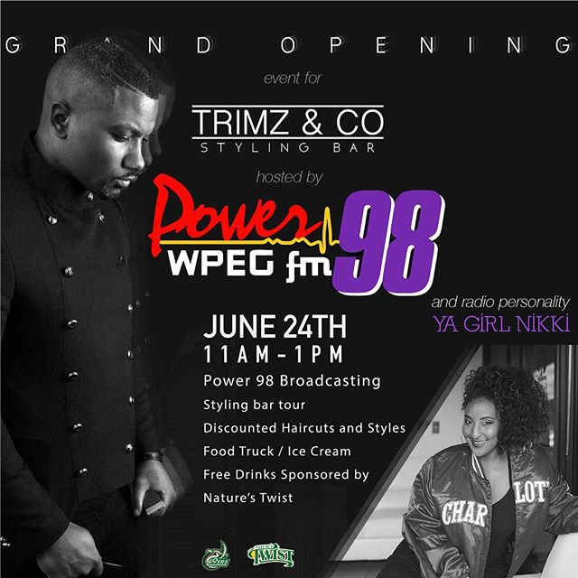 This SATURDAY!!! We will hold our Grand Opening event with @power98fm own @yagirlnikki .  Come experience great service and excitement that will come out of The premiering of Trimz&Co!