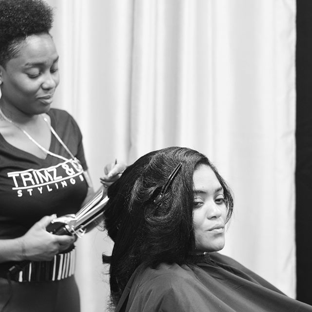 The salon on Grand Opening day. From styling, to coloring, to brows, the TrimzTeam was providing all service requested.