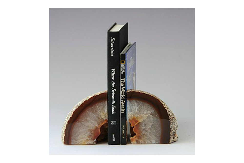 Agate Bookends (2)