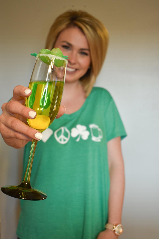 Sour Grape Garnished Green Prosecco