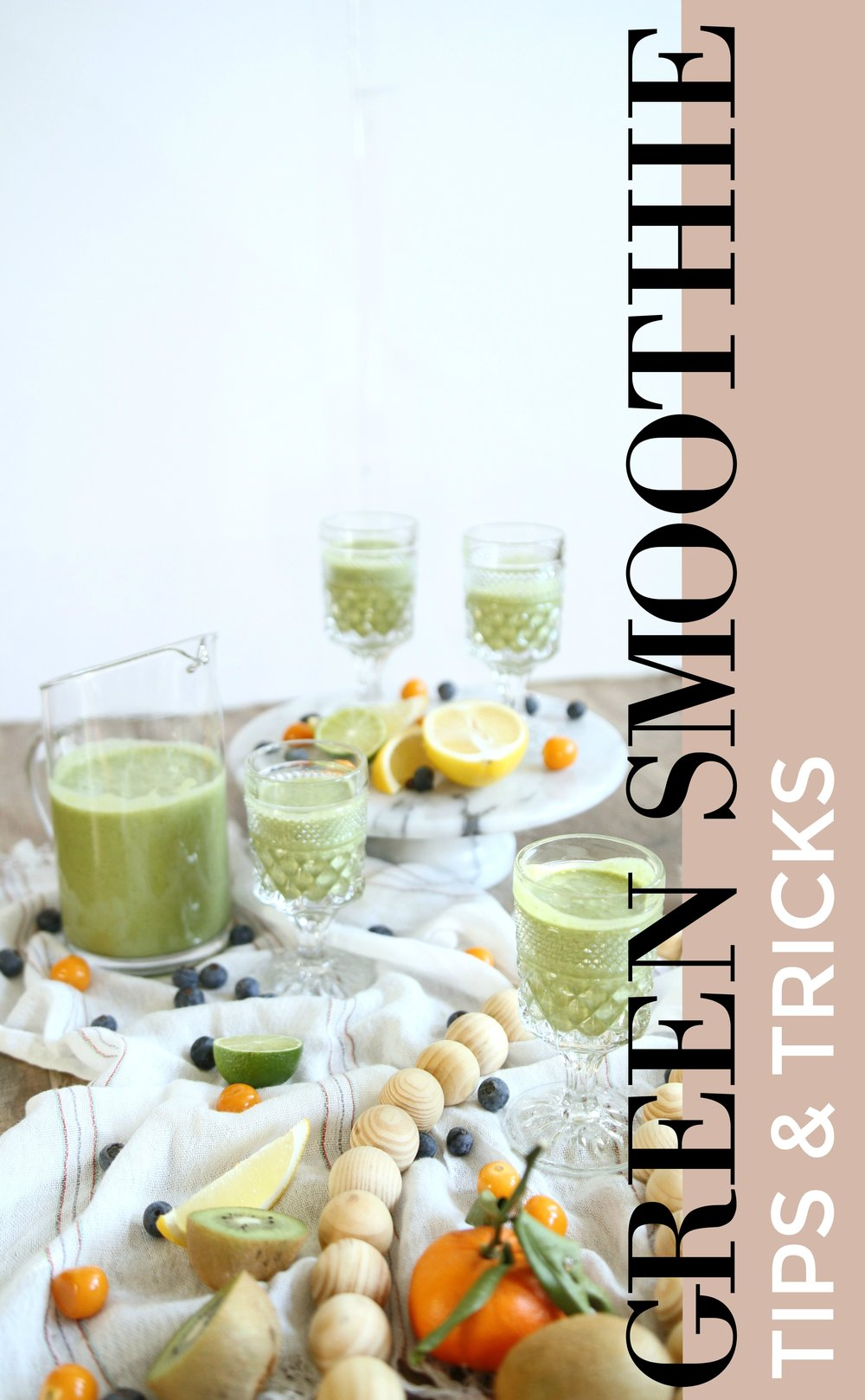Green Smoothie tips and tricks! Finding ways to get your daily greens can be so hard! This simple trick can make green smoothies healthier, faster and even tastier!