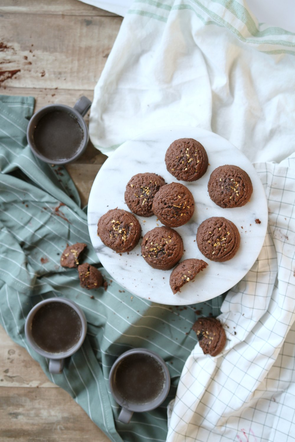 Chocolate Espresso Almond Butter Cookies | Gluten Free, Vegan, Refined Sugar-Free These cookies are mature, the flavor of the creamy chocolate powder and espresso make them decadent and rich. With a crumbly outside and an incredible brownie-like inside, these cookies far from disappoint. Now I don't want you thinking you cant make these cookies for the family, I have had children sneak these cookies they are that good. Being gluten-free, sugar-free and vegan are some of the last things you think about, these cookies are incredible!  The almond butter adds a more than just moisture, but it lightens the whole cookie, to make sure the almond didn't get overpowered I added a little almond extract.