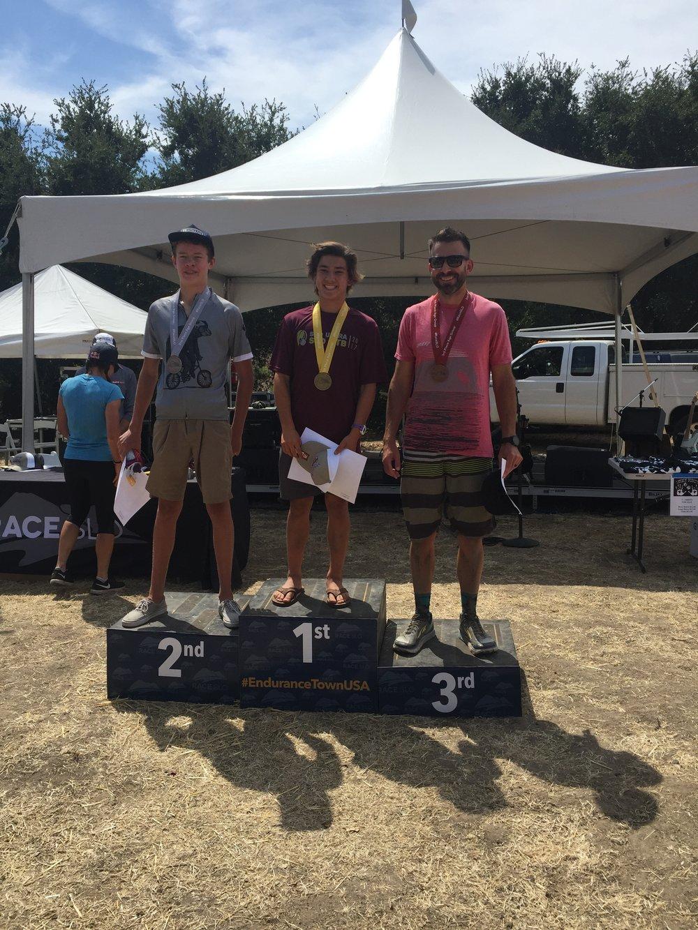 13 Mile Men's podium finishers