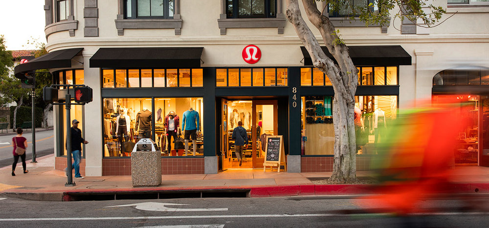 lululemon storefront at the SLO Collection in downtown SLO