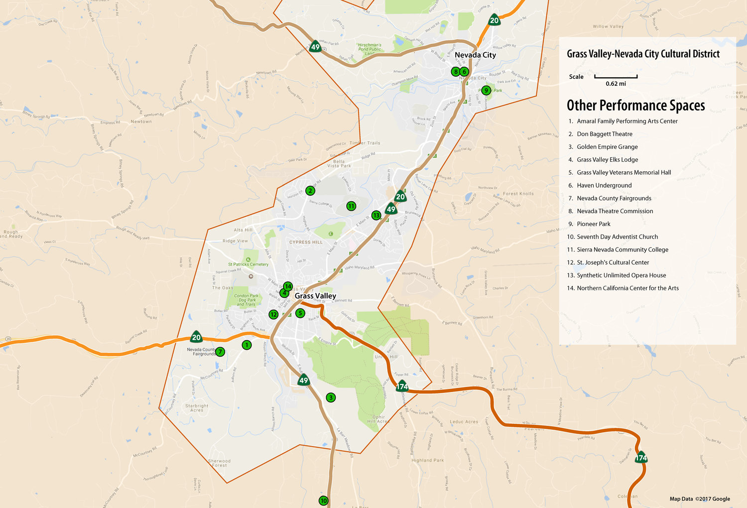 Grass Valley and Nevada City CULTURAL ASSET MAPS — Nevada County ...