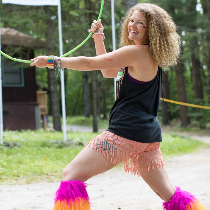 Woop Woop - Woop Woop is a music loving, plant eating, barefoot hiking, nomadic rainbow dancing wild woman!!! She is SO excited to connect with all of you beautiful souls and pumped to share some deep belly laughs, sing some late night songs by the campfire and share some AcroYoga magical fun under the stars!