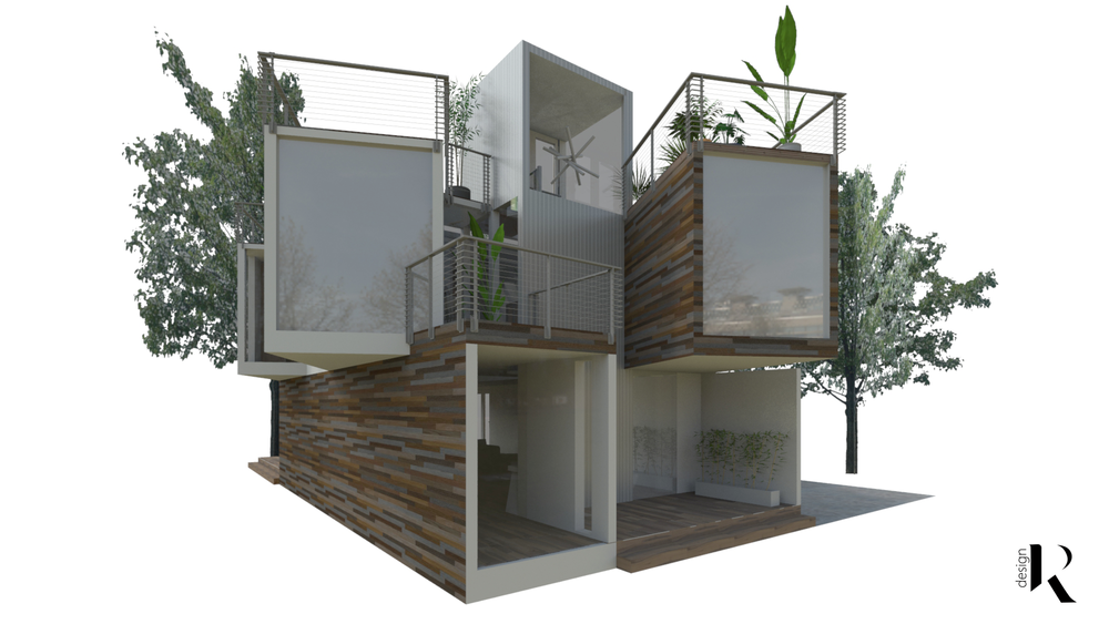 SHIPPING CONTAINER HOME  Custom Home Design Concept