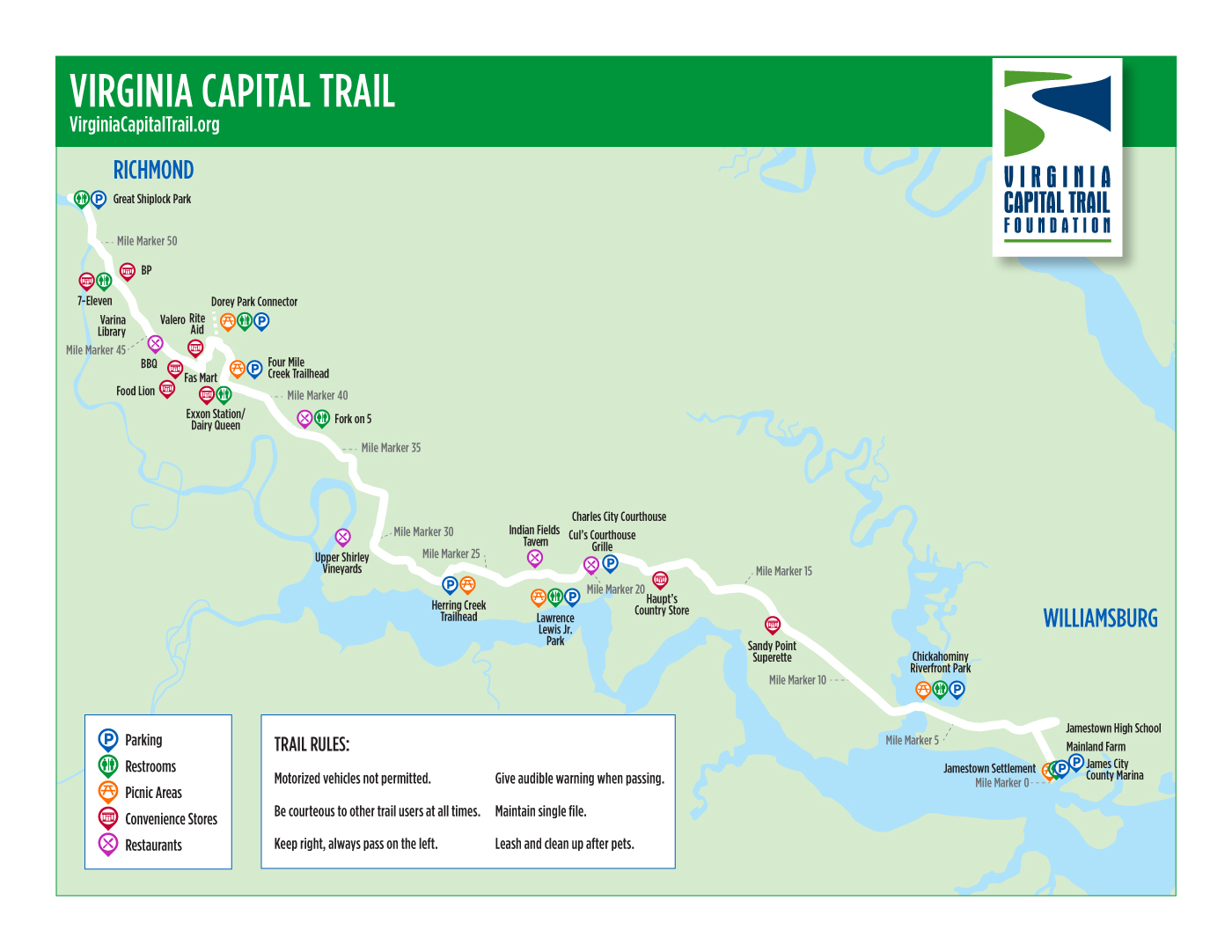 Printable Maps Virginia Capital Trail Foundation