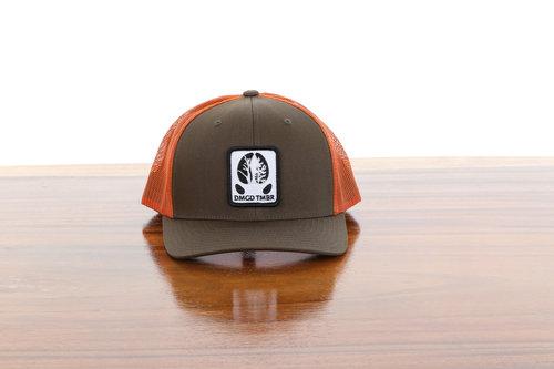 Rangifer Pre-curved Mesh Back Hat Loden Jaffa — Damaged Timber 951c6313e74e