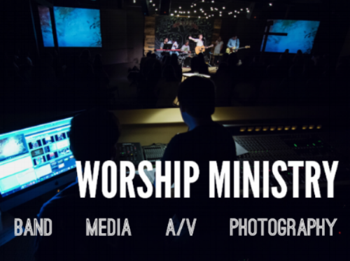 Worship ministry is a vital part of our Sunday morning services, Nights of Prayer & Worship, and special events. If you're interested in serving in any area of worship ministry or would just like more information, click the button below.